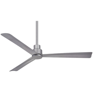 "Simple 52"" Outdoor Ceiling Fan In Silver by Minka Aire F787-SL"