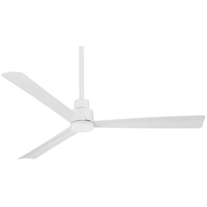 "Simple 52"" Outdoor Ceiling Fan In Flat White by Minka Aire F787-WHF"