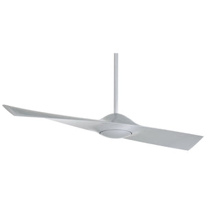 "Wing 52"" Ceiling Fan In Silver by Minka Aire F823-SL"