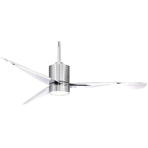 "Mojave 56"" LED Ceiling Fan In Chrome by Minka Aire F829L-CH/CH"