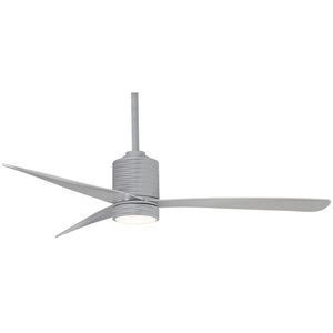 "Mojave 56"" LED Ceiling Fan In Silver by Minka Aire F829L-SL"