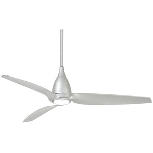 "Tear 60"" LED Ceiling Fan In Silver by Minka Aire F831L-SL"