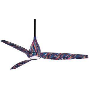 "Tear 60"" LED Ceiling Fan In Tie Dye by Minka Aire F831L-TD"