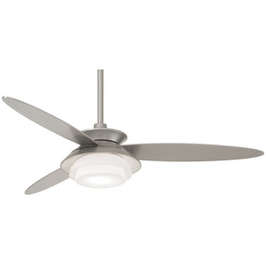 "Stack 56"" LED Ceiling Fan In Silver by Minka Aire F849L-SL"