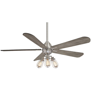 "Alva 56"" LED Ceiling Fan In Brushed Nickel by Minka Aire F852L-BN"
