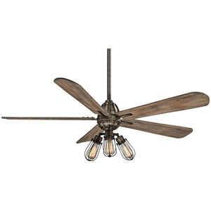 "Alva 56"" LED Ceiling Fan In Heirloom Bronze by Minka Aire F852L-HBZ"