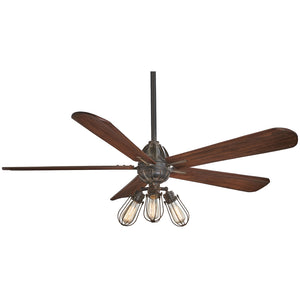 "Alva 56"" LED Ceiling Fan In Tarnished Iron by Minka Aire F852L-TI"