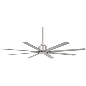"Xtreme H2O 65"" Outdoor Ceiling Fan In Brushed Nickel Wet by Minka Aire F896-65-BNW"