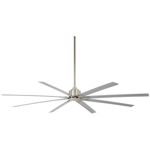 "Xtreme H2O 84"" Outdoor Ceiling Fan In Brushed Nickel Wet by Minka Aire F896-84-BNW"