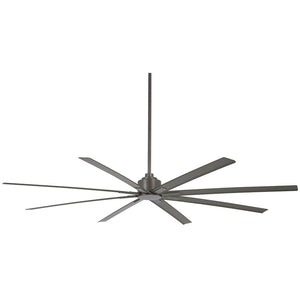 "Xtreme H2O 84"" Outdoor Ceiling Fan In Smoked Iron by Minka Aire F896-84-SI"