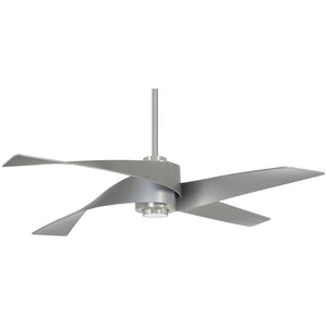 "Artemis IV 64"" LED Ceiling Fan In Brushed Nickel W/ Silver by Minka Aire F903L-BN/SL"