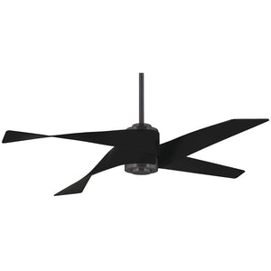 "Artemis IV 64"" LED Ceiling Fan In Gun Metal/Matte Black by Minka Aire F903L-GM/MBK"