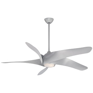 "Artemis Xl5 62"" LED Ceiling Fan In Silver by Minka Aire F905L-SL"