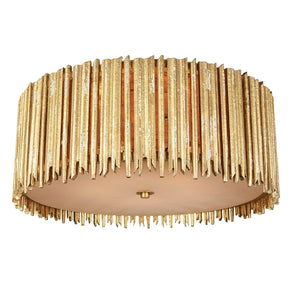 Crown & Glory Large Gold Ceiling Mount in Distressed Gold by Aidan Gray FL100L GLD