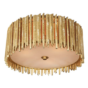 Crown & Glory Small Gold Ceiling Mount in Distressed Gold by Aidan Gray FL100S GLD