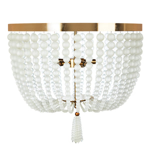Chestnut Large Ceiling Mount in Frosted Glass & Ant Brass by Aidan Gray FL104L