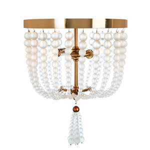 Chestnut Small Ceiling Mount in Frosted Glass & Ant Brass by Aidan Gray FL104S