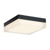 Matrix 9in LED Square Flush Mount 3000K in Black