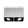 Box 11in LED 2 Light Square Adjustable Gimbal Flush Mount 3000K in Brushed Aluminum