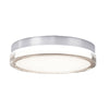 Pi 15in LED Round Flush Mount 3000K in Stainless Steel