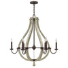 Middlefield Chandelier by Fredrick Ramond FR40576IRR Iron Rust*
