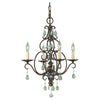 Feiss Chateau 4 Light Mini Chandelier in Mocha Bronze Finish F1904/4MBZ