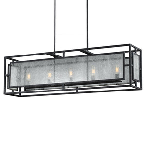 Feiss Prairielands 5 Light Island in Dark Weathered Zinc Finish F3037/5DWZ