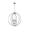 Feiss Corinne 6 Light Large Pendant in Polished Nickel Finish F3061/6PN