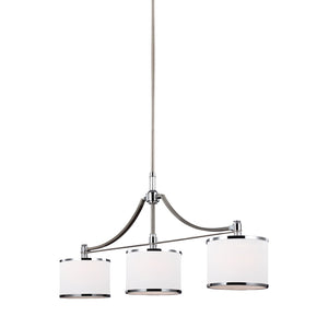 Feiss Prospect Park 3 Light Island in Satin Nickel / Chrome Finish F3086/3SN/CH