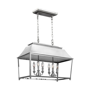 Feiss Galloway 6 Light Island in Polished Nickel Finish F3105/6PN