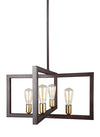 Feiss Finnegan 4 Light Chandelier in New World Bronze Finish F3145/4NWB