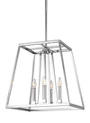 Feiss Conant 4 Light Pendant in Chrome Finish F3150/4CH