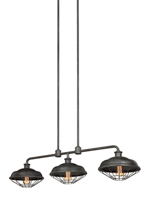 Feiss Lennex 3 Light Island in Slate Grey Metal Finish F3158/3SGM