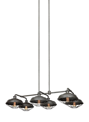 Feiss Lennex 6 Light Island in Slate Grey Metal Finish F3159/6SGM