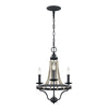 Feiss Nori 3 Light Chandelier in Dark Weathered Zinc / Driftwood Grey Finish F3188/3DWZ/DWG