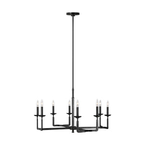 Feiss Ansley 8 Light Chandelier in Aged Iron Finish F3291/8AI