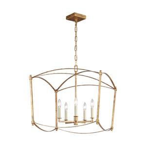 Feiss Thayer 5 Light Chandelier in Antique Gild Finish F3325/5ADB
