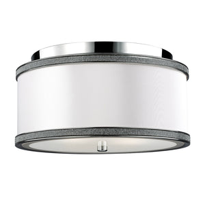 Feiss Pave 2 Light Ceiling Flush Mount in Polished Nickel Finish FM442PN