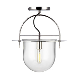 Nuance 1 Light Medium Semi-Flush Mount in Polished Nickel by Kelly Wearstler KF1071PN