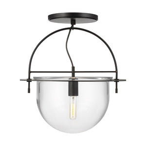 Nuance 1 Light Large Semi-Flush Mount in Aged Iron by Kelly Wearstler KF1081AI