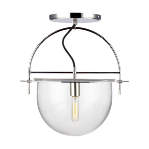 Nuance 1 Light Large Semi-Flush Mount in Polished Nickel by Kelly Wearstler KF1081PN