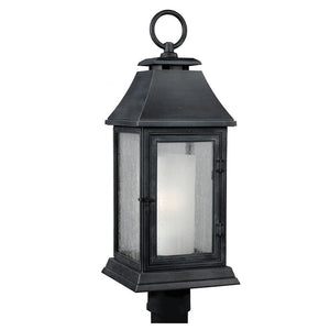 Feiss Shepherd 1 Light Outdoor Post Lantern in Dark Weathered Zinc Finish OL10608DWZ