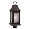 Feiss Shepherd 1 Light Outdoor Post Lantern in Heritage Copper Finish OL10608HTCP