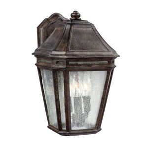Feiss Londontowne 3 Light Outdoor Wall Sconce in Weathered Chestnut Finish OL11301WCT