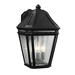 Feiss Londontowne 3 Light Outdoor Wall Sconce in Black Finish OL11302BK