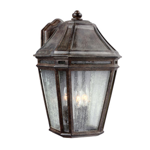 Feiss Londontowne 3 Light Outdoor Wall Sconce in Weathered Chestnut Finish OL11302WCT
