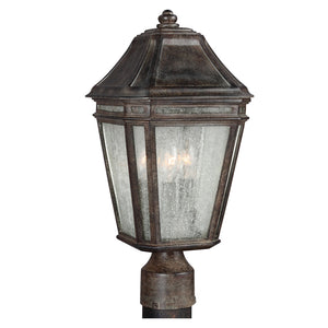 Feiss Londontowne 3 Light Outdoor Post Lantern in Weathered Chestnut Finish OL11307WCT