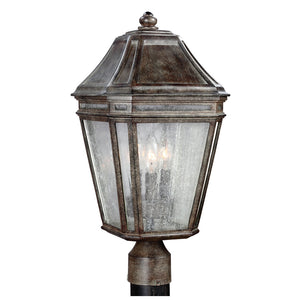 Feiss Londontowne 3 Light Outdoor Post Lantern in Weathered Chestnut Finish OL11308WCT