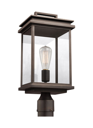 Feiss Glenview 1 Light Outdoor Post Lantern in Antique Bronze Finish OL13607ANBZ