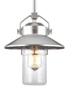 Feiss Boynton 1 Light Outdoor Pendant in Painted Brushed Steel Finish OL13909PBS